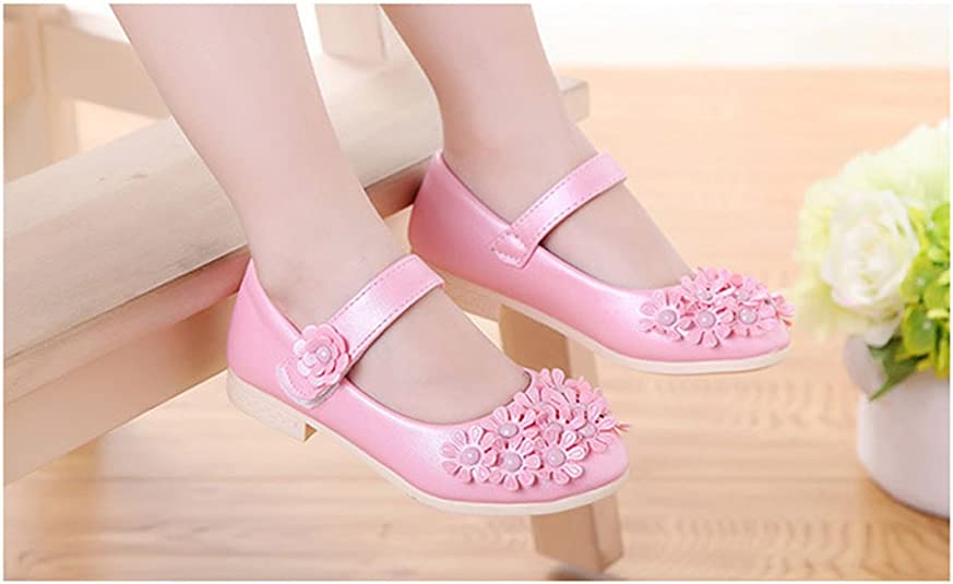 Gaorui New Kids Baby Girls Shiny Flower Sandals Ankle Strap Princess Flat Shoe Ballet Dance Shoes