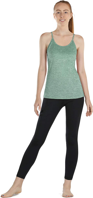 icyzone Damen Sport Shirt Yoga R/ückenfrei Tr/äger Top Gym Fitness Oberteile 2er Pack Tanktop