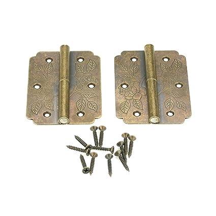Hinges with Screws, Heavy Duty Vintage Solid Brass Hinges, Antique Hinge  Connectors for Door - Hinges With Screws, Heavy Duty Vintage Solid Brass Hinges, Antique