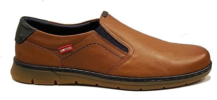 NOTTON - Zapatos sin Cordones Ultra Cómodos para Hombre - 176 - Marrón  (44)  Amazon.es  Zapatos y complementos d800c37b502