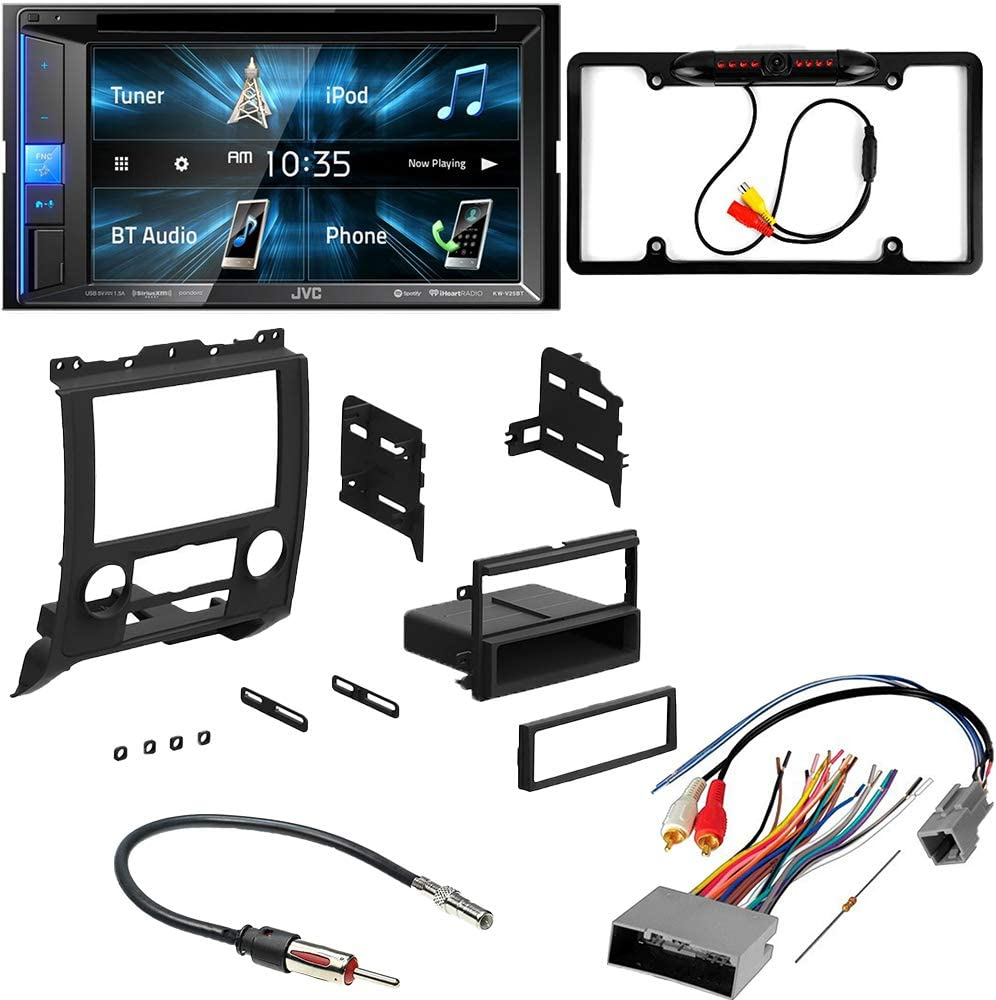 CACHÉ KIT2892 Bundle with Complete Car Stereo Installation Kit with Receiver – Compatible with 2008–2012 Ford Escape – Bluetooth Touchscreen, Backup Camera, Double Din Dash Mounting Kit (5Item)