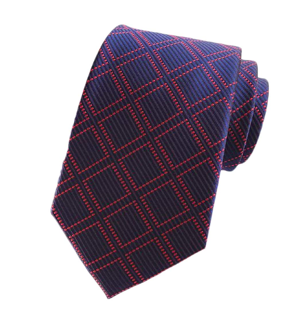 Comaba Men Polyester Floral Printed More Choice Beautiful Plaid Neck Tie 14 OS