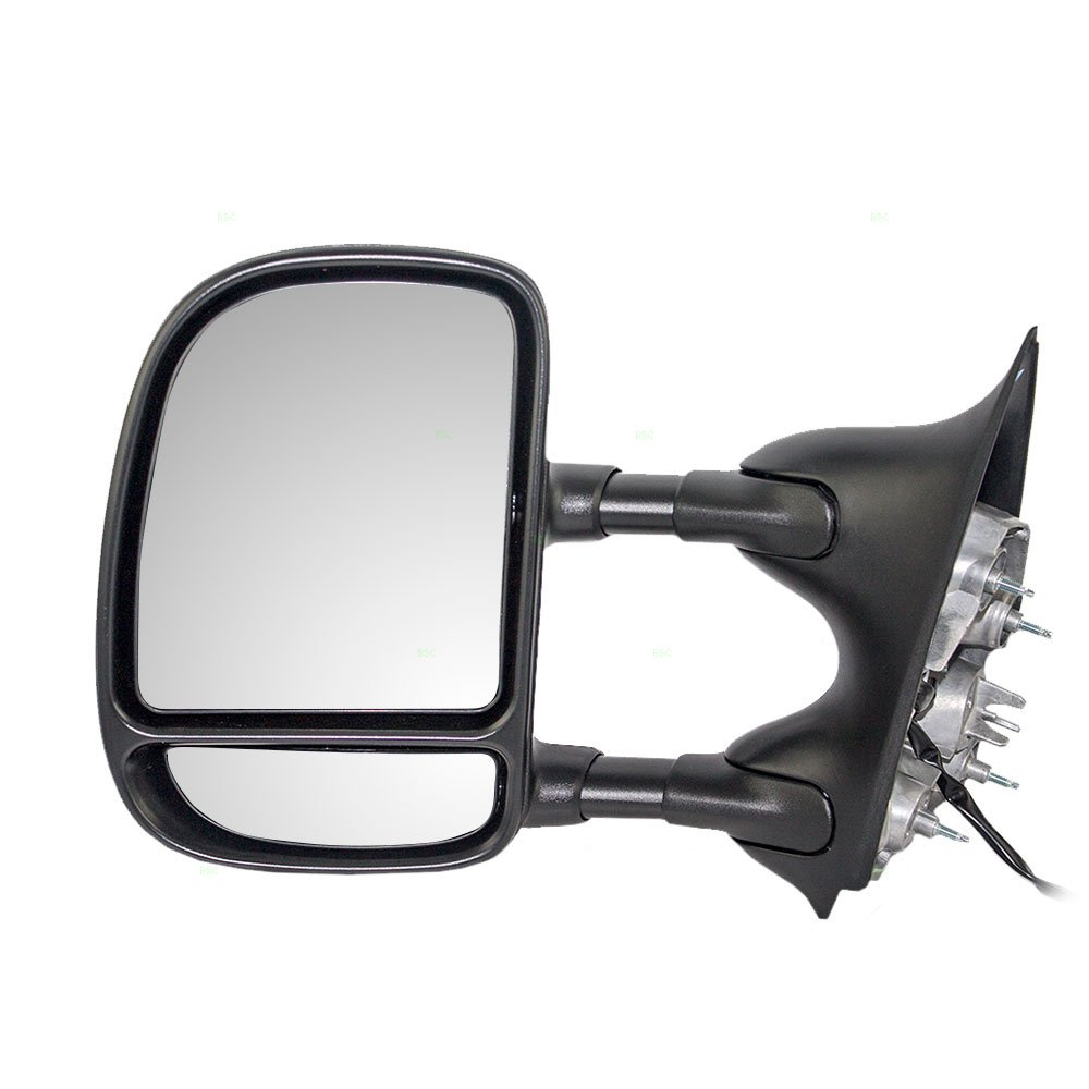 BROCK Drivers Telescopic Tow Power Side View Mirror with Dual Arms Replacement for Ford SUV Pickup Truck 3C3Z 17683 DAA Aftermarket