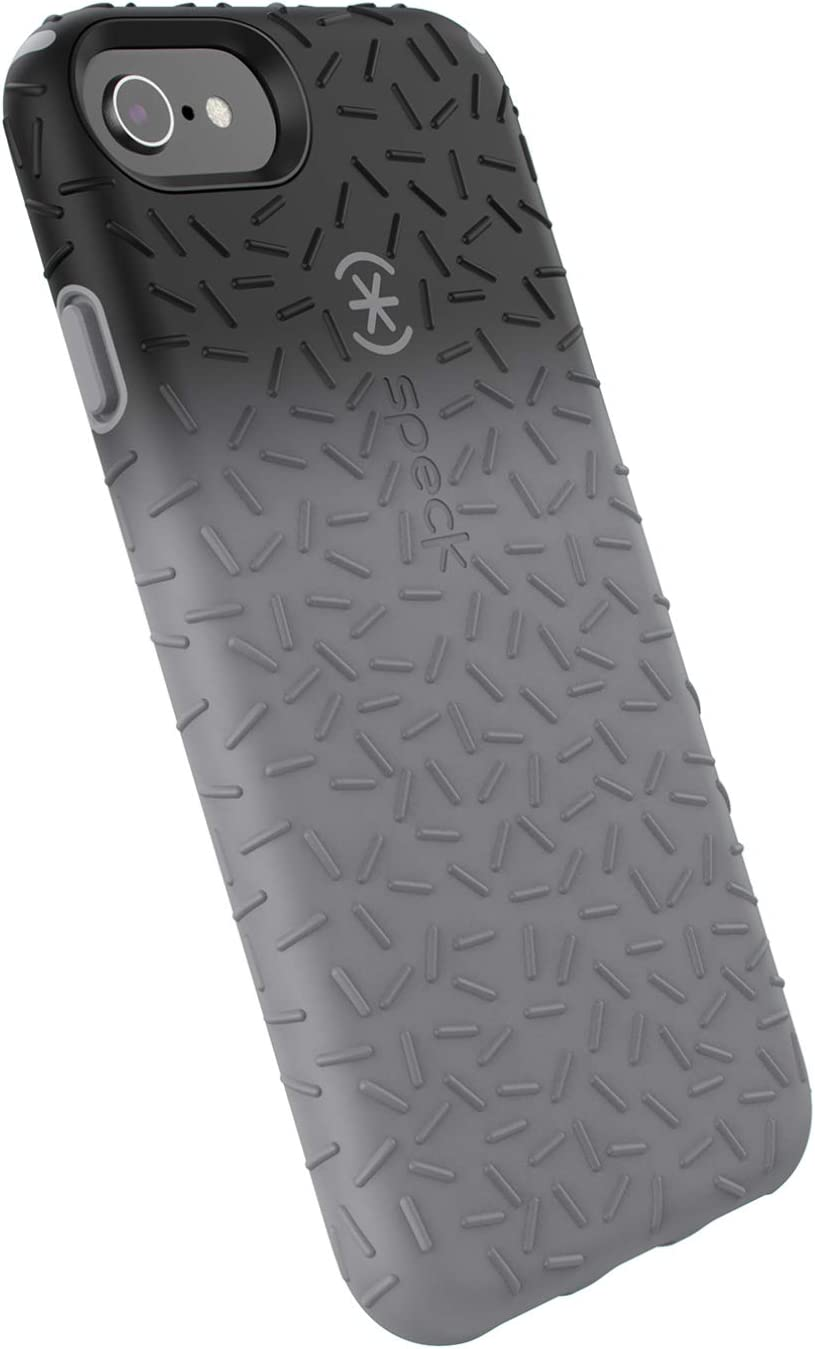 Speck Products CandyShell Fit Cell Phone Case for iPhone 8/7/6S Plus - Black Ombre Gunmetal/Gunmetal Grey
