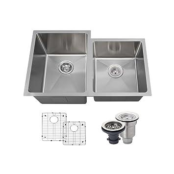 3120l 14 gauge stainless steel kitchen ensemble  bundle   5 items  sink basket 3120l 14 gauge stainless steel kitchen ensemble  bundle   5 items      rh   amazon com