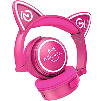 {Auriculares Inalámbricos de Gato Oreja} MindKoo MH-6 Auriculares Diadema Bluetooth 4.2 Manos