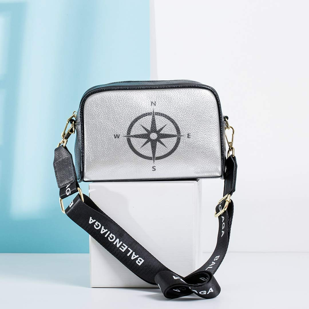 An Antique Compass Rose Daily Crossbody Bag Shoulder Beach Bag With Adjustable Long Strap Fashion Work Bag Carry Shoulder Bag Messenger Bag Shoulder Bag