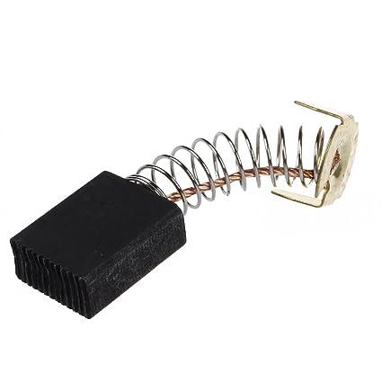 SODIAL(R) 2 x Cepillo de Carbon para Motor Electrico 6.5mm x 13.5
