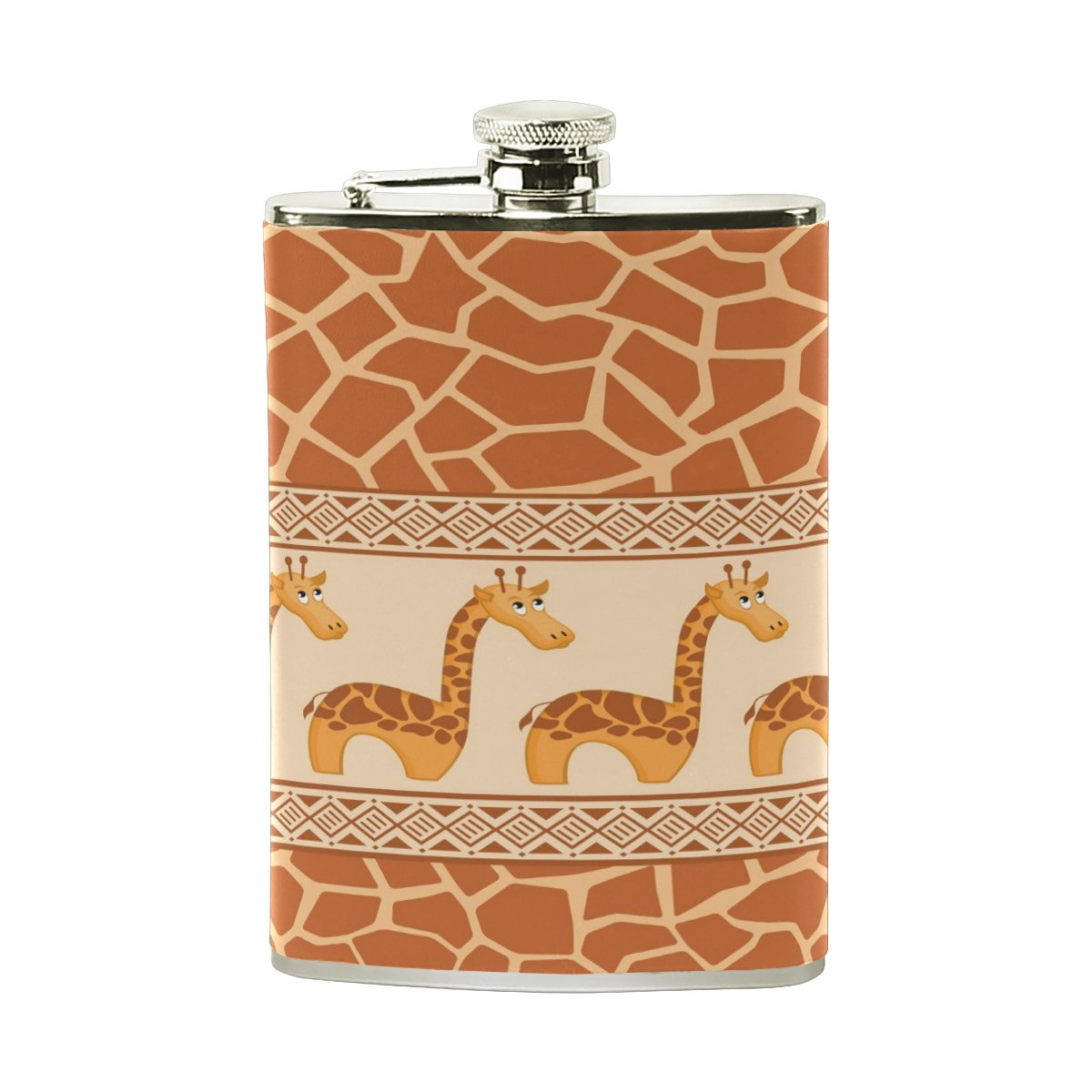【国際ブランド】 Alaza Giraffe Vidkaラム 8オンスステンレススチールヒップフラスコPUレザーWrappedカバーHeavy DutyポケットショットのフラスコLiquor Alaza Giraffe Whiskey Vidkaラム B075YWKV15, LOOKIT オフィス家具 インテリア:7836fd14 --- a0267596.xsph.ru