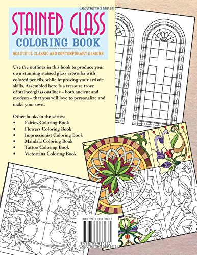 stained glass coloring book beautiful classic and contemporary designs chartwell coloring books patience coster 0039864031233 amazoncom books - How To Make Your Own Coloring Book