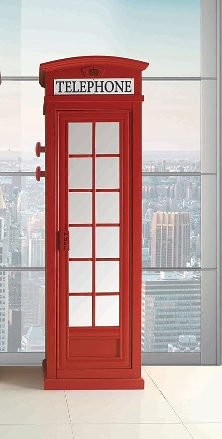 Cabina Armadio In Inglese.Exploit Srl Armadio Cabina Telefonica Rossa Amazon It Casa E Cucina