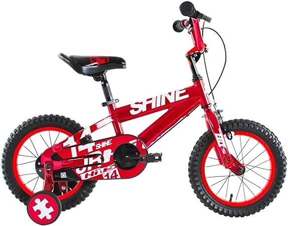 AZZ Bicicletas for niños, Bicicletas niños 2-10 años de la niña del Carro Boy Velocidad Variable Bicicletas Seguridad Ambiental En Salud y Belleza (Color : Red): Amazon.es: Hogar