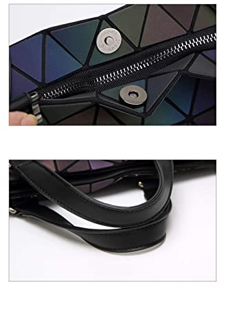 76a626e57289 Amazon.com: CCDYLQ Geometric Luminous Purses and Handbags Shard ...