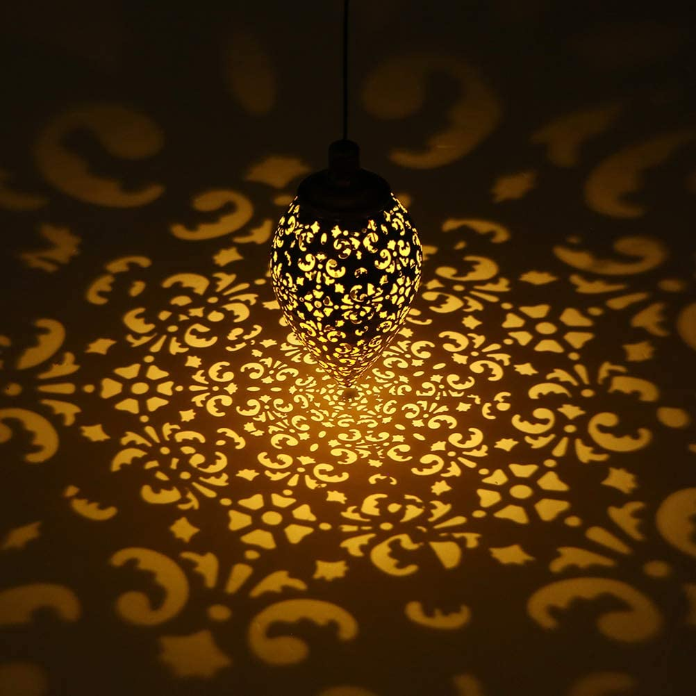 Kronleuchter Wasserfest LED Solar Lampe Licht Kontrolliert Induktion Rasen #J