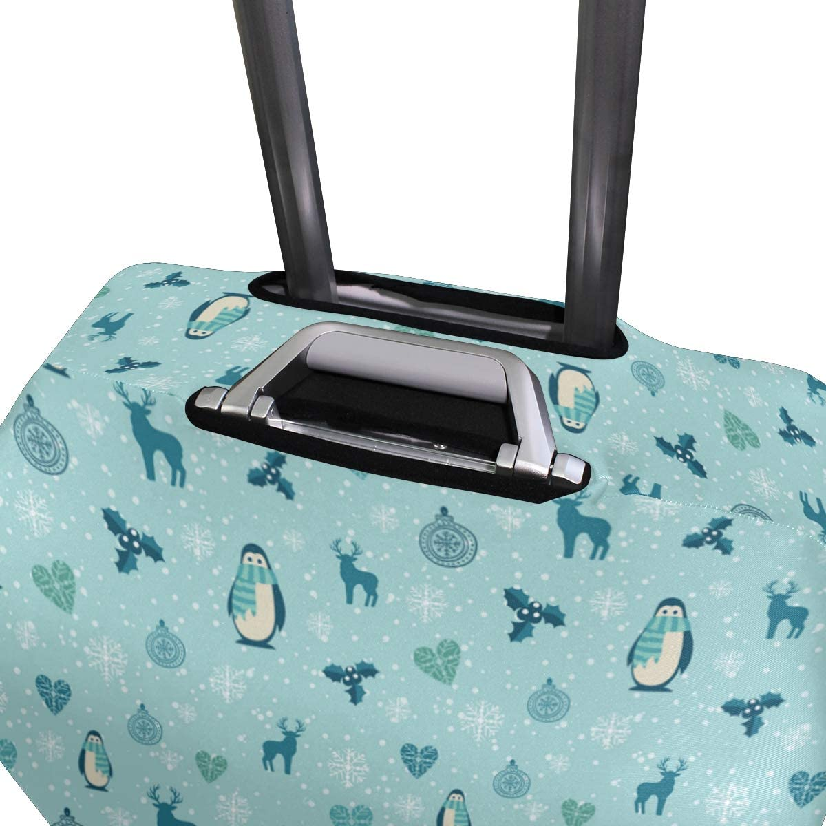Funny Penguin Gift Mini Travel Luggage Protector Case Suitcase Protector For Man/&Woman Fits 18-32 Inch Luggage