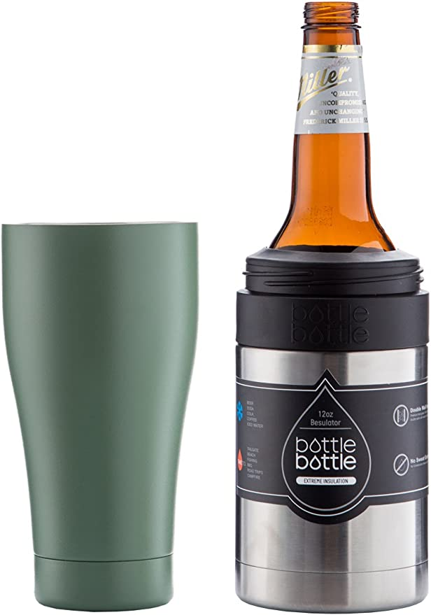Bottlebottle - 2 tazas de acero inoxidable para enfriar latas ...