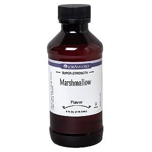LorAnn Marshmallow Super Strength Flavor, 4 ounce bottle