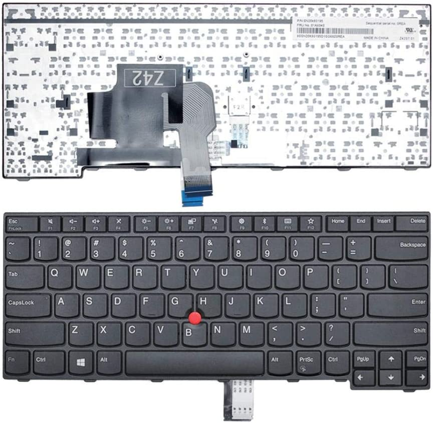 Gazechimp Replacement Part Keyboards Button with Point for Lenovo ThinkPad E470 E470c E475 Laptops English Keybaords