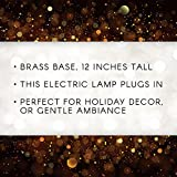 Darice 6203-03 12 inch, Electric Candle lamp, Large Gold Base