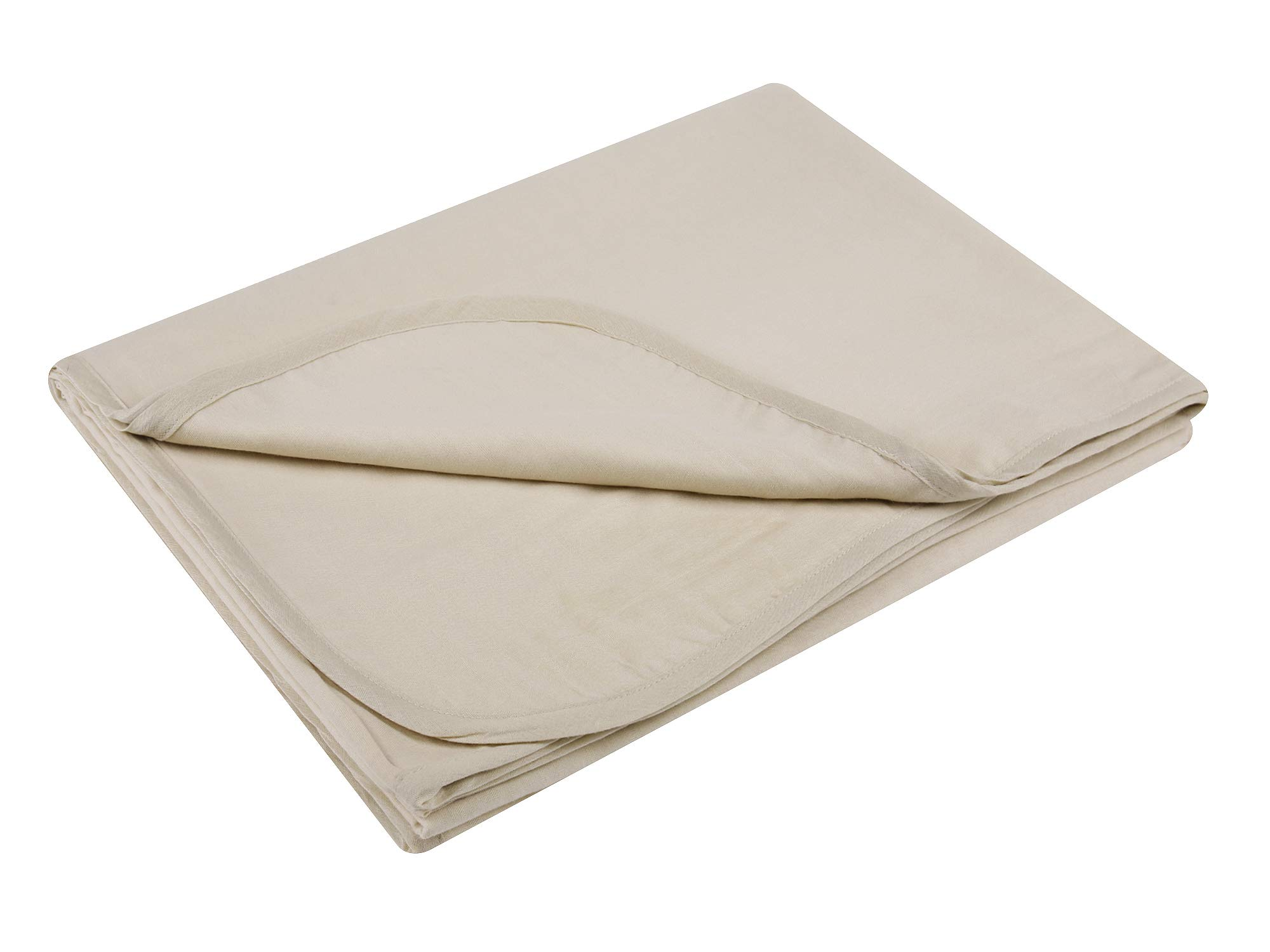 GYS Ultra Soft and Lightweight 100% Organic Cotton Hospital/Home Blanket (Twin Size, 30 Ounce, 58.3''x82.7''), Summer Quilt with 5 Layers of Organic Cotton, Flaxen