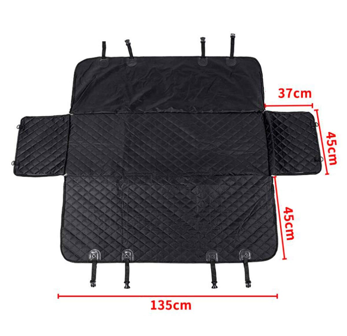 Black-C 135X155CM Black-C 135X155CM BYCDD Dog Car Seat Covers for Back Seat, Waterproof Nonslip Pet Back Seat Covers Cover Predector Easy to Clean Universal Size Dog Hammock,Black-C_135X155CM