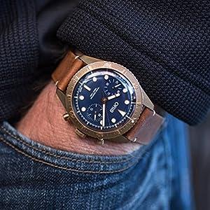 Oris Carl Latón Cronógrafo Edición Limitada Bronce Reloj 01 771 7744 3185-Set LS 5
