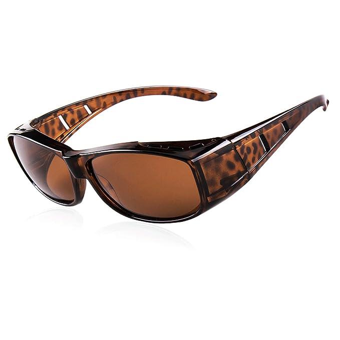 Gafas de sol de la manera para las mujeres de los hombres desgaste polarizado de la lente sobre los anteojos de la prescripción Rx, gafas de sol ...