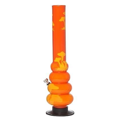 Metier Moksha 4 Bulb Acrylic Bong (5 cm x 5 cm x 40 cm, Orange)