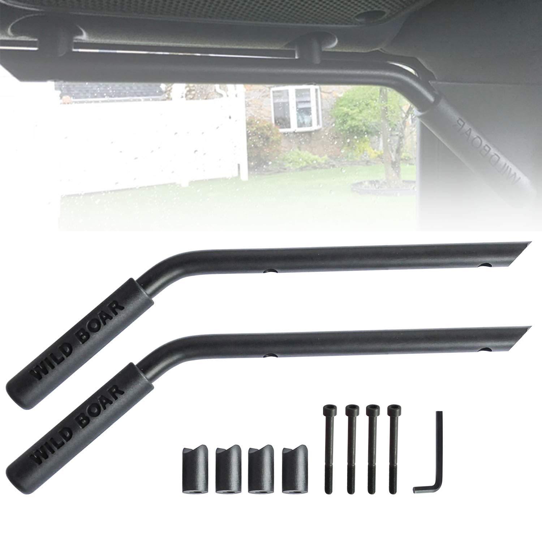 Moab Black Rear(Back) Grab Bar Grab Handle Kit for 2007-2018 Jeep Wrangler JK JKU 2//4 Door Pair