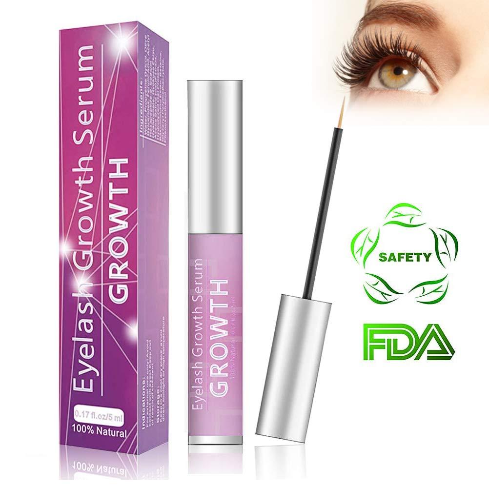 2561f1f03ac Eyelash Growth Serum Eyelash Booster Natural Eyebrow Lash Enhancer for  Longer Fuller Thicker Lashes - 5ml