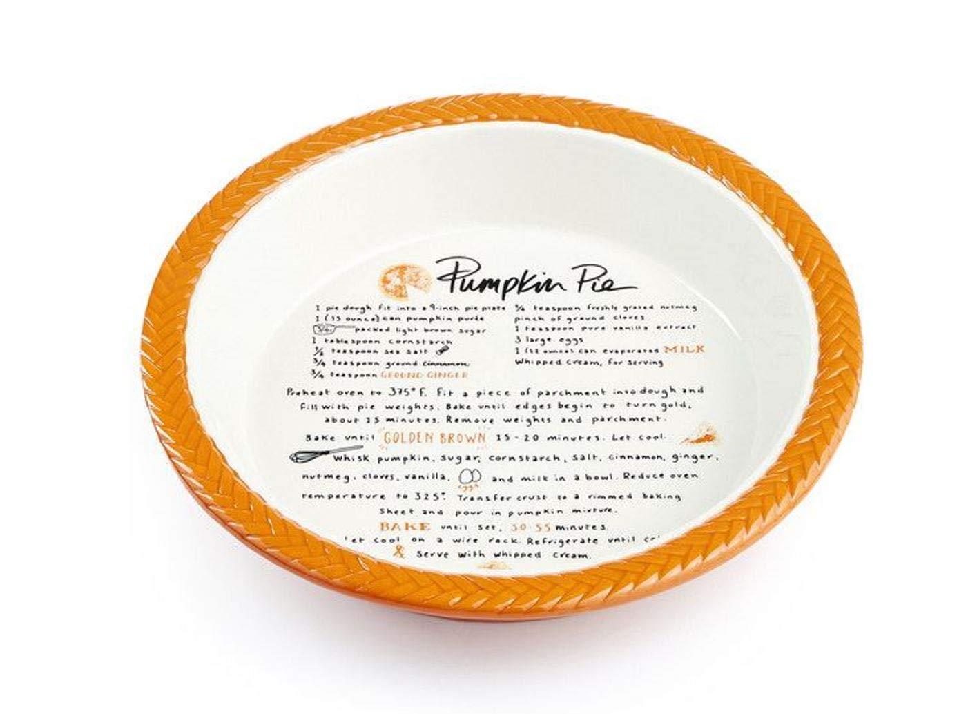 Martha Stewart Collection Stoneware Plate Pumpkin Pie Dish