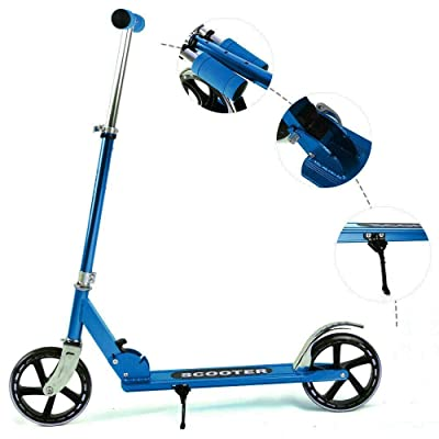 DuncaMontgo Folding Kick Scooter Sport Portable Adjustable Ride Exercise Street Kid Adult : Sports & Outdoors [5Bkhe0414114]