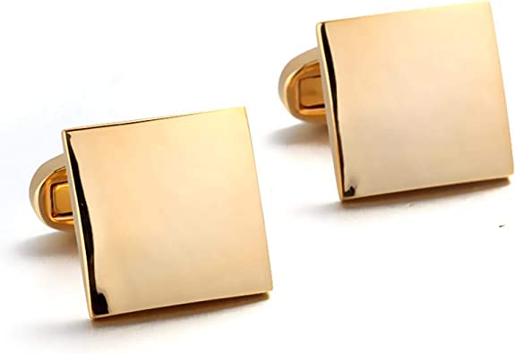 AYDOME Gemelos Camisa Personalizados Gemelos de Hombregemelos de Camisa Hombre Cuadrado Pulido Gemelo Camisa Oro: Amazon.es: Joyería