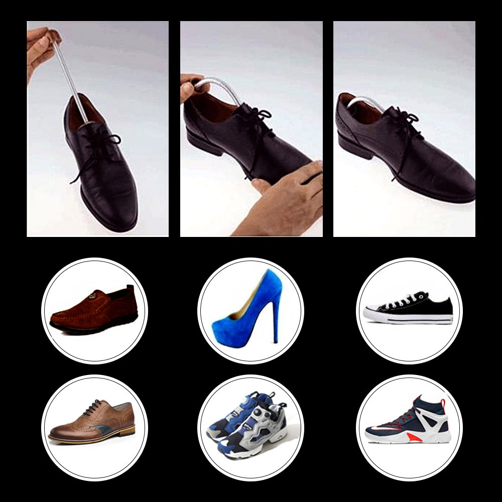 Shoes Trees with Spiral Spring Plastic Maintain Shape Footwear White Shoe Stretcher Set of 10 Pairs