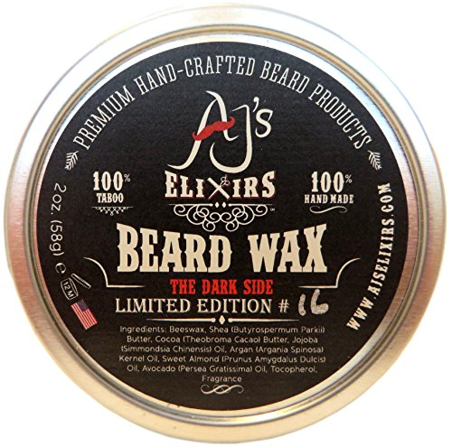 AJ's Elixirs Dark Side No.16 Beard Wax - Beard Shaping and Volumizing