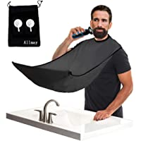 Allmay Shaving and Grooming Apron Bib for Hair Clippings (Black)