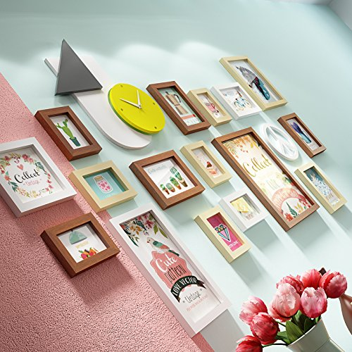 Imoerjia Personalized Creative Wall Clock Photo Frame Wall Garden-Wall Decoration Living Room Wall Photo Frame Creative Photo Wall, B Original Ms White (Furniture B&ms Garden)
