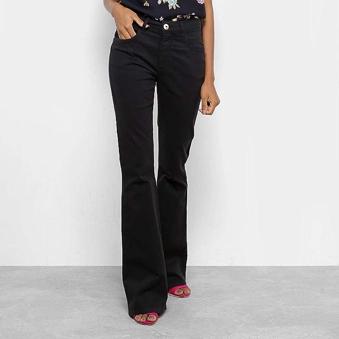 098fb0ba2 Calças Jeans Flare Forum Cintura Média Feminina - Preto - 36  Amazon ...