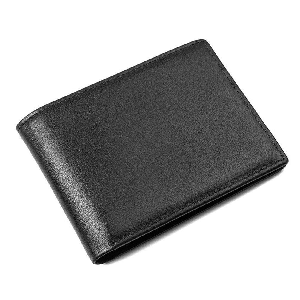 YHUJH Home Krotitkarteninhaber mit Money Clip Blocking Wallet Schlanke Brieftasche Reisebrieftasche Minimalistische Mini-Brieftasche für Männer (Farbe   schwarz) B07MPWJ4DF Geldbrsen