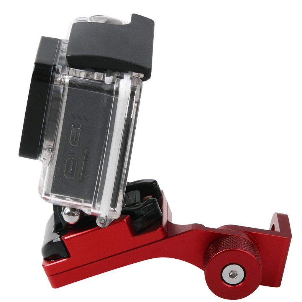 80x55x20mm SM SunniMix Sostenedor del Montaje del Espejo De Rearview De La Motocicleta De La Motocicleta para Gopro Azul