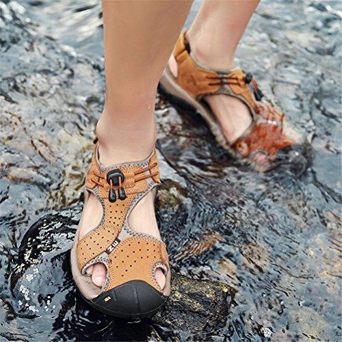 Escursionismo da Scarpe PU Sandali Trekking Shoes da passeggio HN Sandali uomo brown da spiaggia Sportivi Pelle x7wXYqO