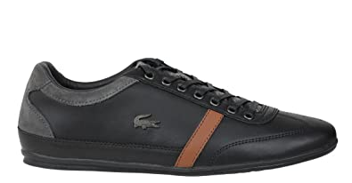 e21d8ef9b10 Amazon.com | Lacoste Mens Casual Shoes Misano 32 Black Leather ...