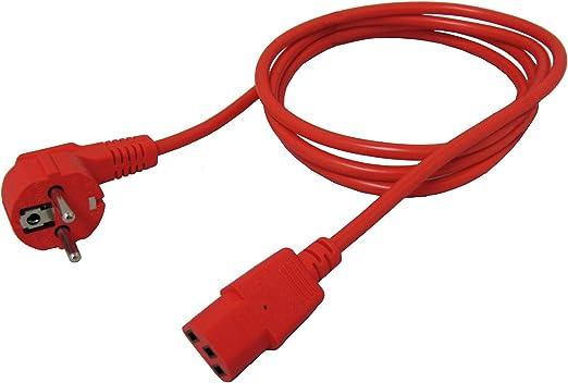 Roline Stromkabel I Schutzkontakt Auf Iec 320 C13 Buchse I Verlängerungskabel Kaltgeräte I Rot 1 8