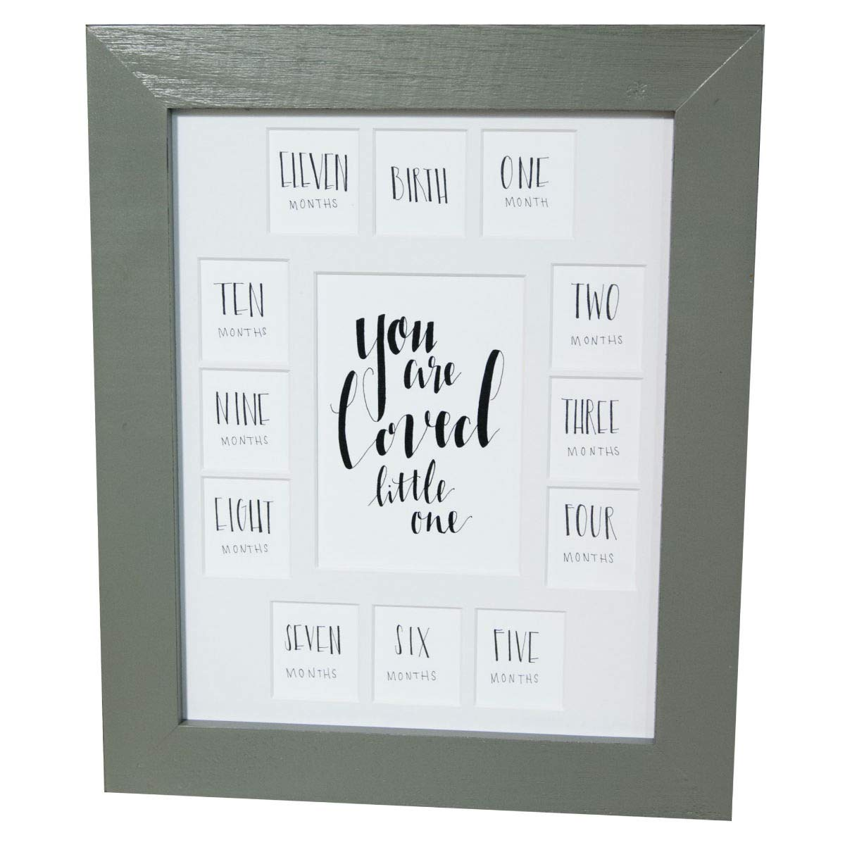 ''You are Loved Little One'', First Year Picture Frame with White Mat 11x14 by All Things for Mom