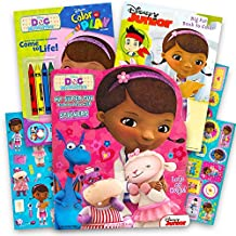 Disney Junior Doc McStuffins Coloring Book Super Set -- 3 Books with Stickers and Crayons (Doc McStuffins Party Supplies)
