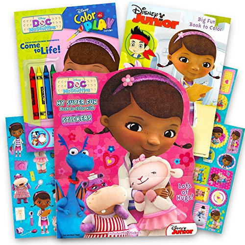 Disney Junior Doc Mcstuffins Coloring Book CUTE GIRLS 3 Books ...