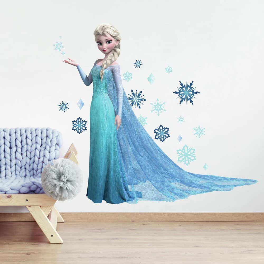 Roommates Rmk2371gm Frozen Elsa Peel And Stick Giant Wall Decals 1 Pack Decorative Wall Appliques