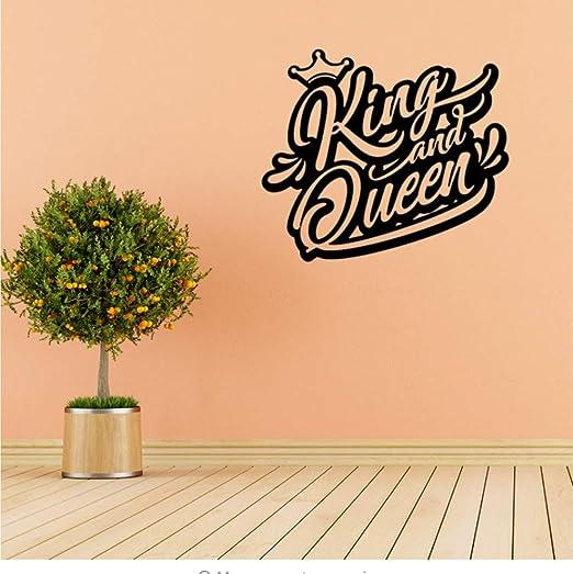 Qqasd Vinilo Tatuajes de Pared Logo Rey Y Reina Corona Palabras ...