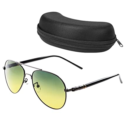 afca0e8a0b1 Amazon.com  Polarized Aviator Sunglasses with Glasses Case