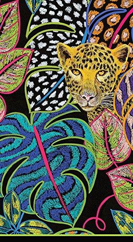 Caspari 3-Ply Paper Jungle Story, 15 Count Guest Towel Napkins, Set of ()